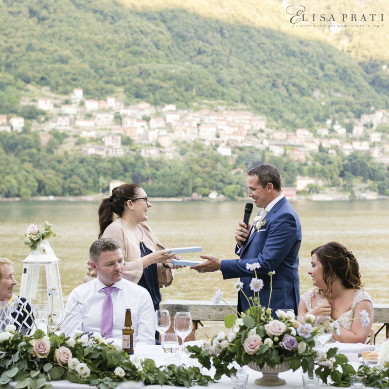 Luxury wedding planner at lake Como