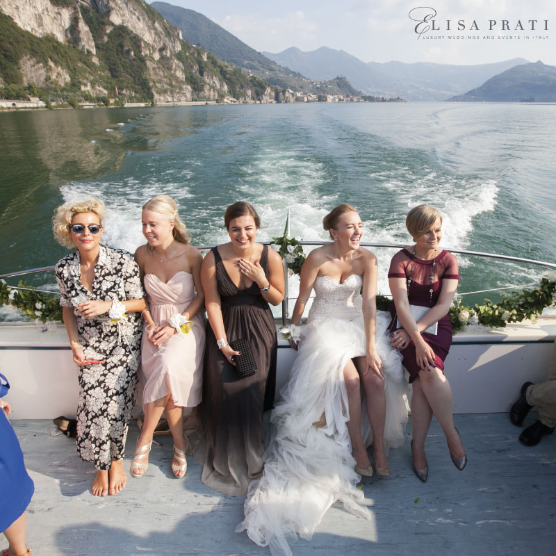 Elisa Prati luxury wedding planner at lake Como