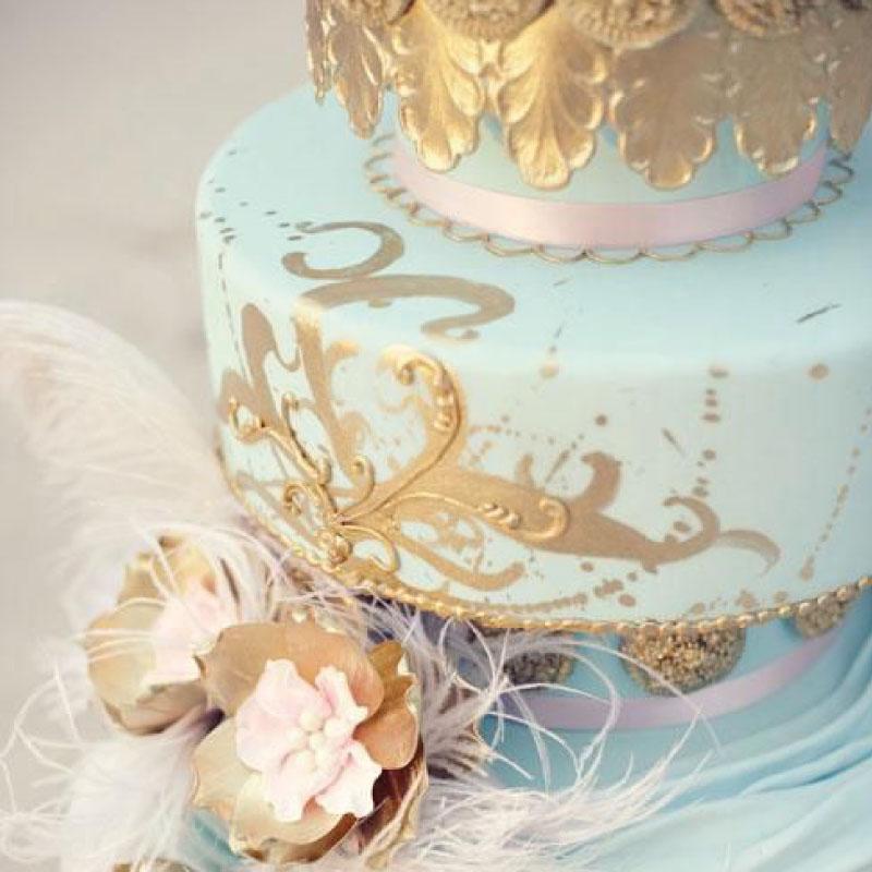 Wedding cake for a luxury wedding in Venice