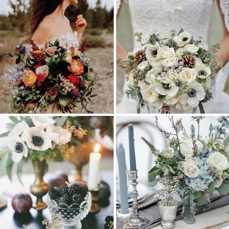 autumn wedding flower arrangement inspiration