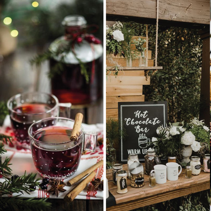 rustic winter wedding in Italy